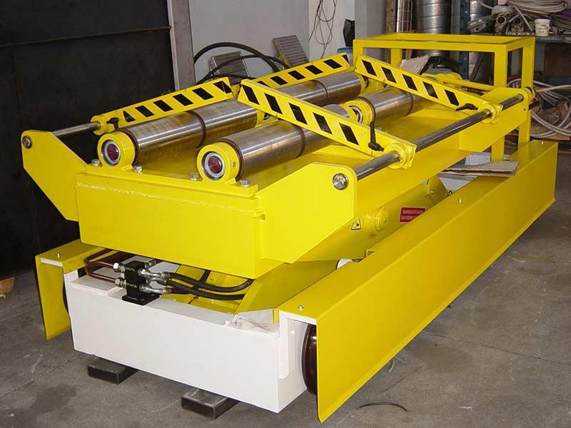 Piattaforma con rulli per coils e griffe