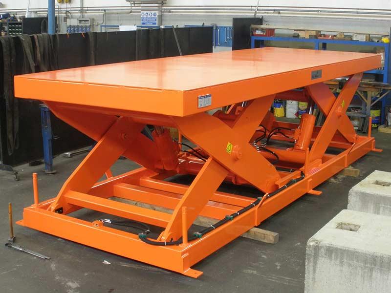 Piattaforma doppio pantografo tandem